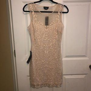 Cream Bebe dress with beautiful detail